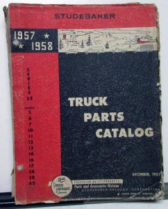 1957-58 Studebaker Series 3E Truck Dealer Parts Catalog Book Pickup HD Original