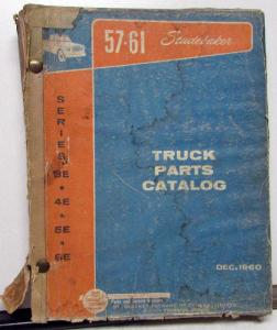 1957-61 Studebaker 3E 4E 5E 6E Truck Dealer Parts Catalog Book Pickup HD Orig