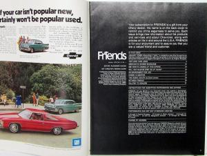 1974 Chevrolet FRIENDS Mag Jan Issue Skiing KY Shakers  & More Original