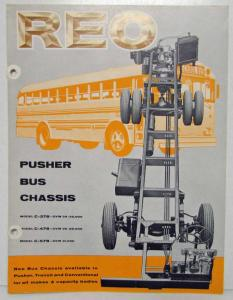 1957-1960 REO Pusher Transit and Conventional Bus Chassis Sales Folder