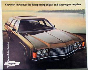 1971 Chevy Wagon Kingswood Townsman Concours Greenbrier Nomad Sales Brochure