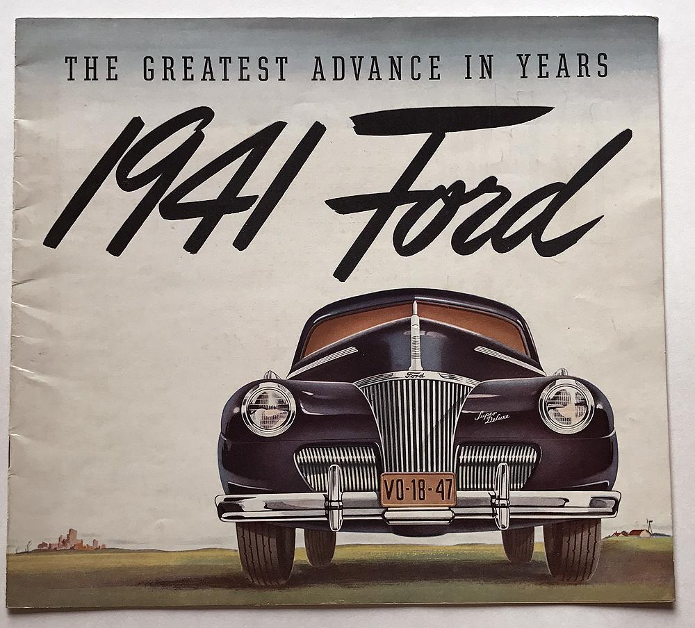 1941 Ford V8 Model 11a Super Deluxe Canadian Sales Brochure Coupe Red