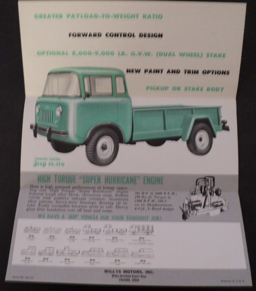 1959 Jeep FC-170 Forward Control Truck Sales Brochure Willys Overland