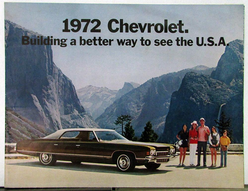1972 Chevrolet Full Line Sales Folder Color Original