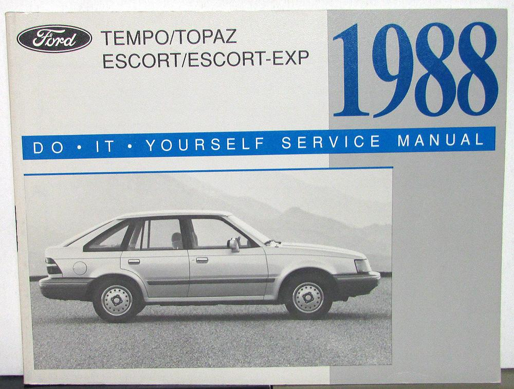 1988 ford tempo topaz escort exp maintenance light repair manual do 1988 ford tempo topaz escort exp maintenance light repair manual do it yourself solutioingenieria Images