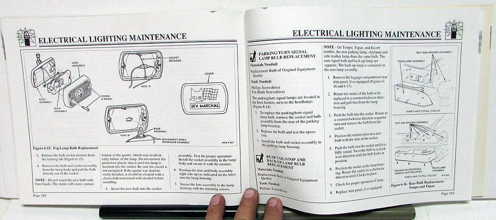 Ford tempo topaz escort exp maintenance light repair manual do it 1988 ford tempo topaz escort exp maintenance light repair manual do it yourself solutioingenieria Choice Image