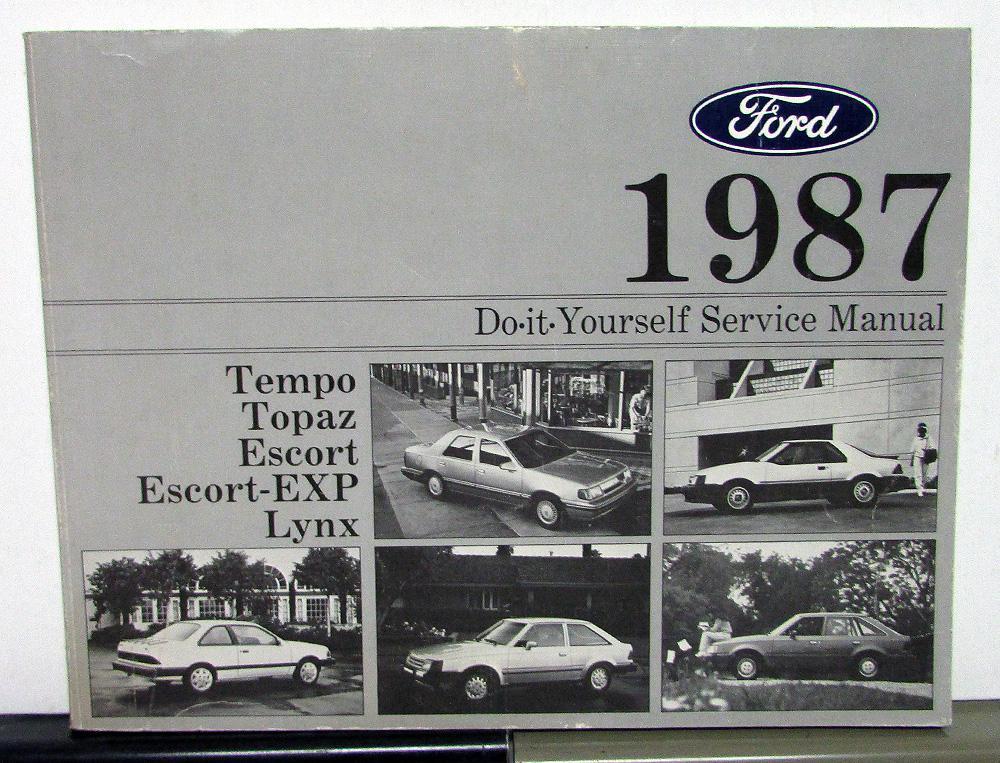 Ford tempo topaz escort lynx maintenance light repair manual do it 1987 ford tempo topaz escort lynx maintenance light repair manual do it yourself solutioingenieria Choice Image