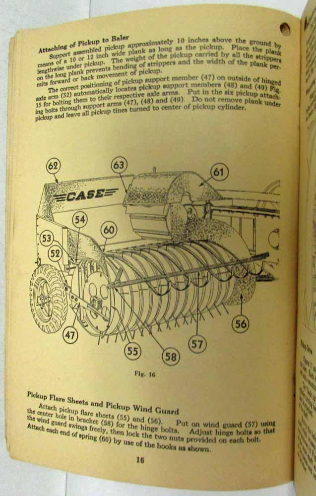 1942 Case NCM Sliced Hay Baler Setup & Operating Manual