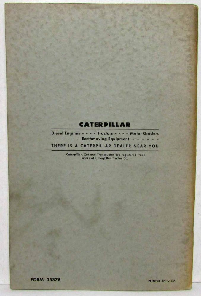 Details about  /Caterpillar Cat 650 660 666 Tractor Parts Catalog Manual 1969 77F280 77F438
