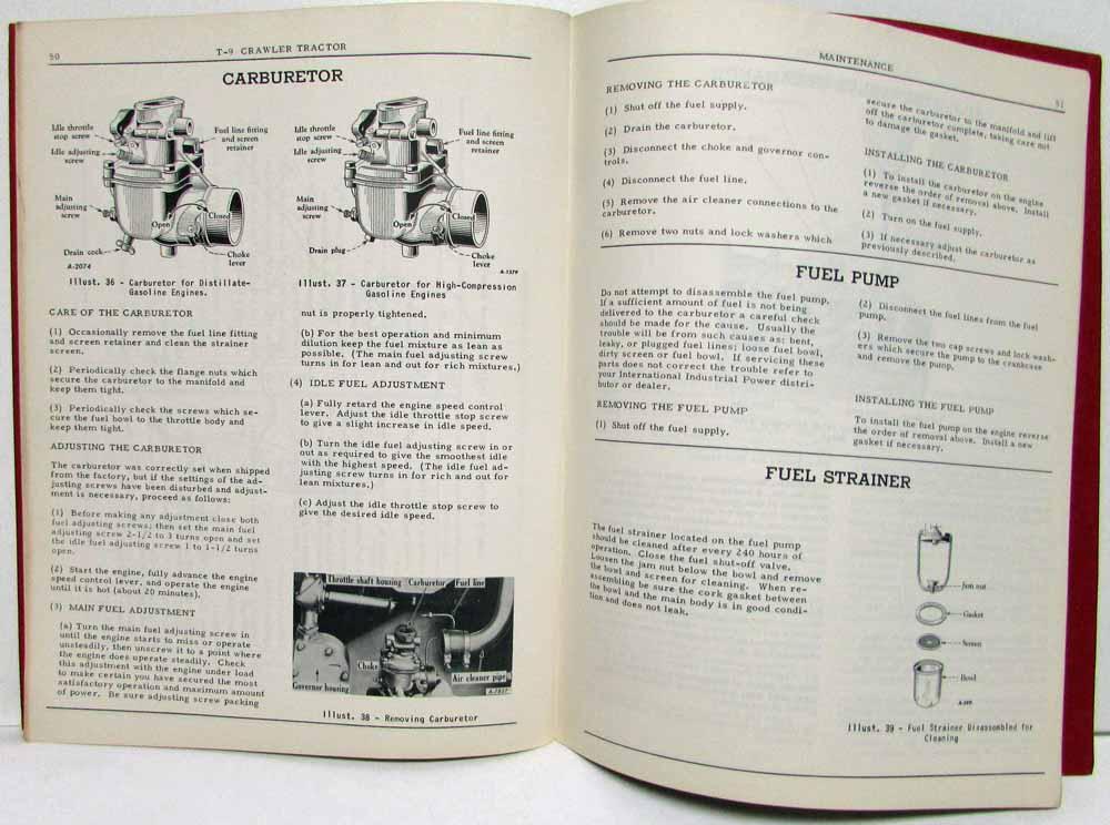 1953-1954 International Harvester T-9 Crawler Tractor Operators Manual