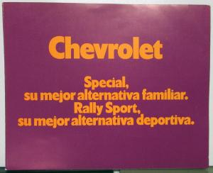 1970 1971 1972 1973 1974 ? Chevy Special & Rally Sport Argentina Sales Folder