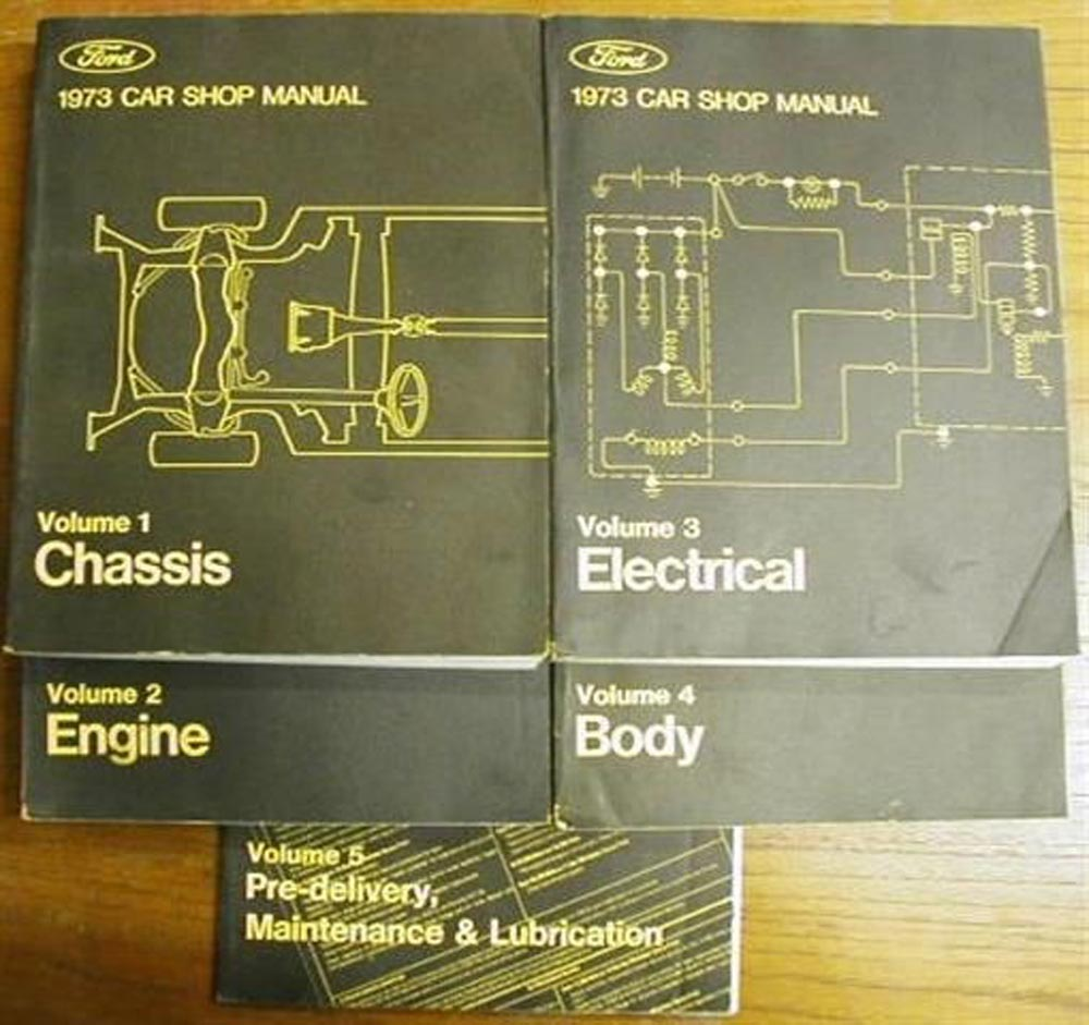 Ford Mustang Service Shop Owners Manuals Troxels Auto Literature 1973 Mach 1 Wiring Diagram Lincoln Mercury Manual Set New Thunderbird Pinto