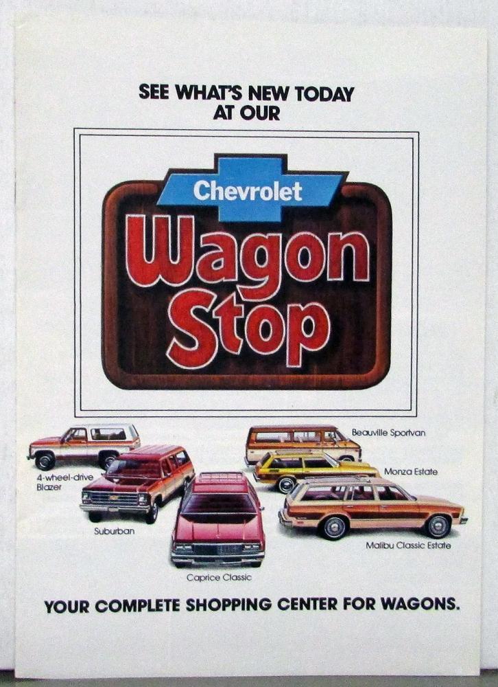 1978 Chevrolet Wagon Blazer Suburban Caprice Monza Malibu