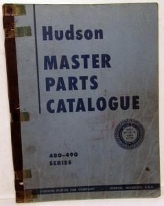 1948-49 Hudson Dealer Master Parts Book Catalog 480 490 Series Original