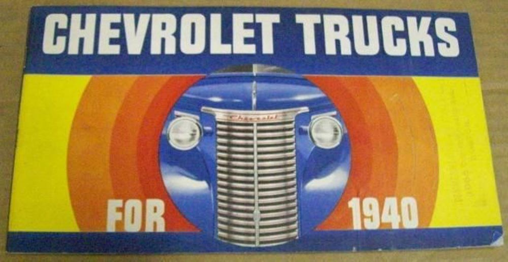 1940 Chevrolet Truck Panel Suburban Pickup Stake Bus COE Woody Sales Brochure