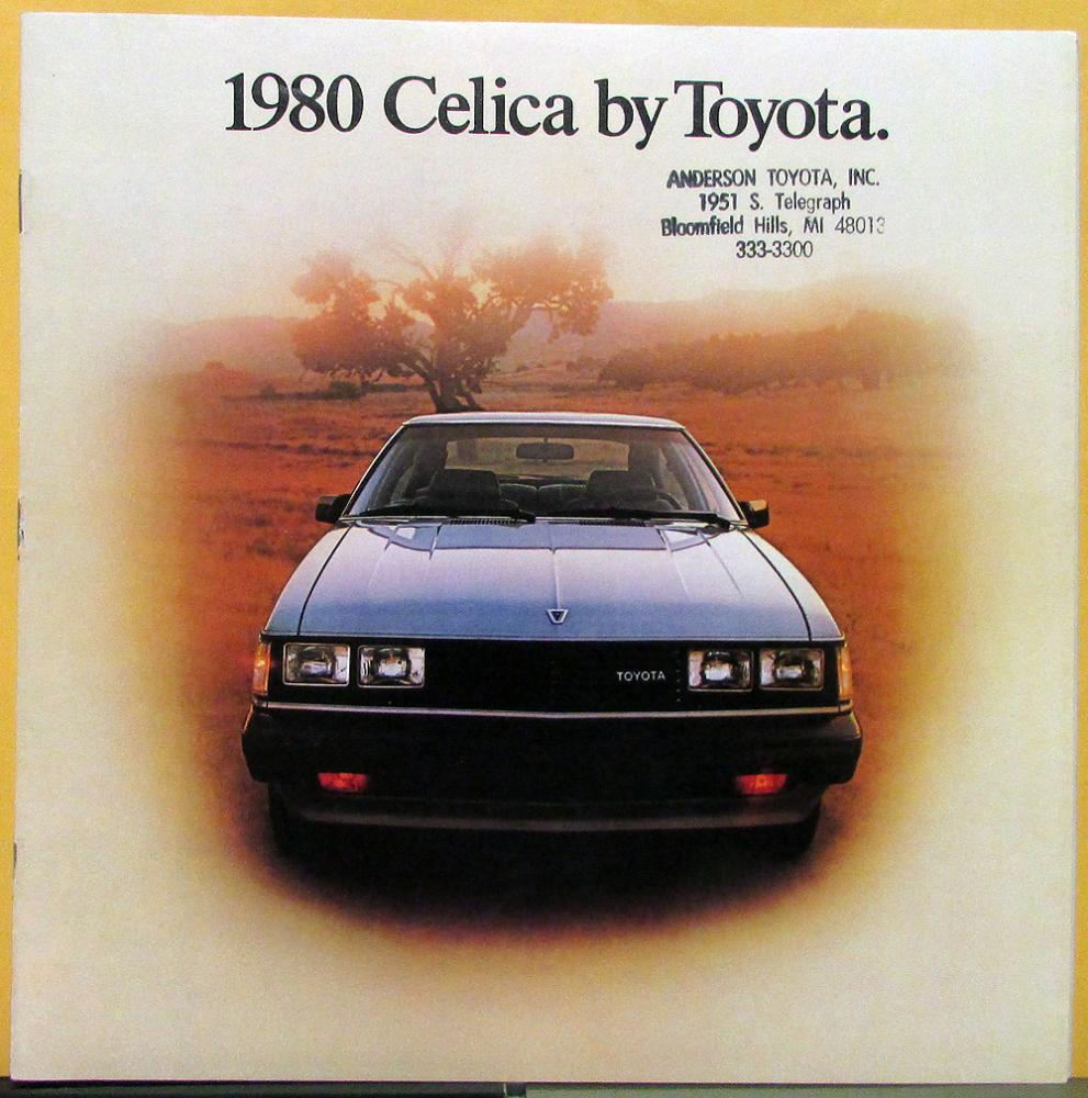 1980 Toyota Celica Gt Sport Xl Color Sales Brochure Original 1973 Liftback