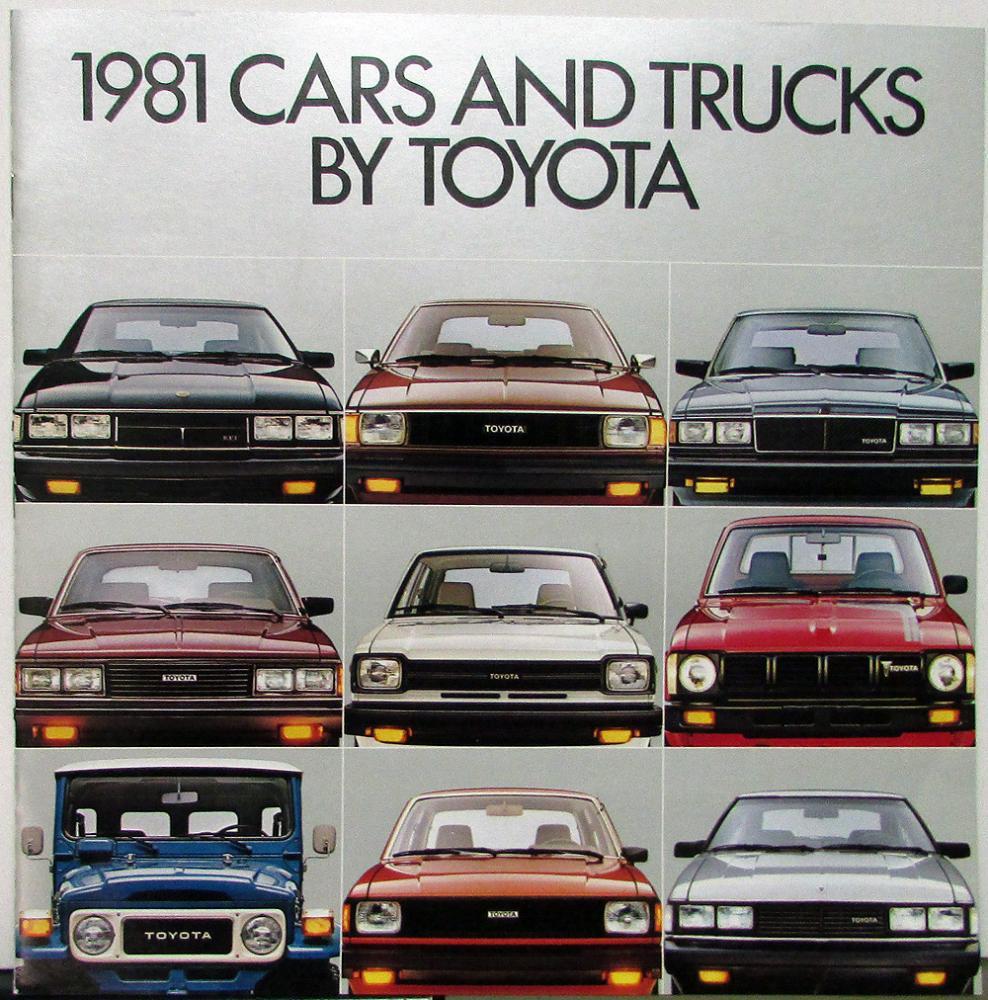 1981 Toyota Cars & Trucks XL Color Sales Brochure Original