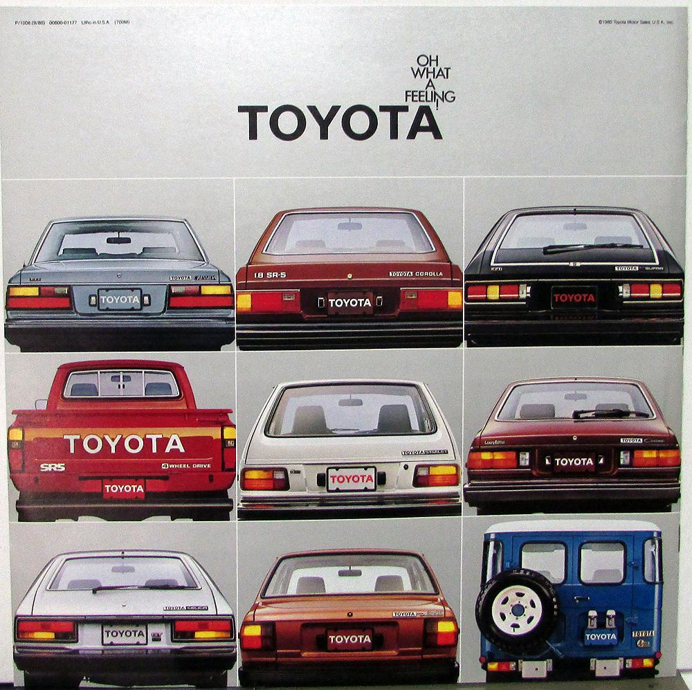 1981 Toyota Cars & Trucks XL Color Sales Brochure Original