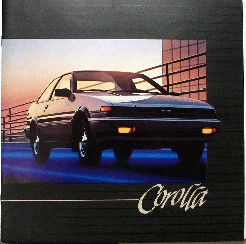 1984 Toyota Corolla LX Deluxe Diesel SR5 XL Color Sales Brochure Original