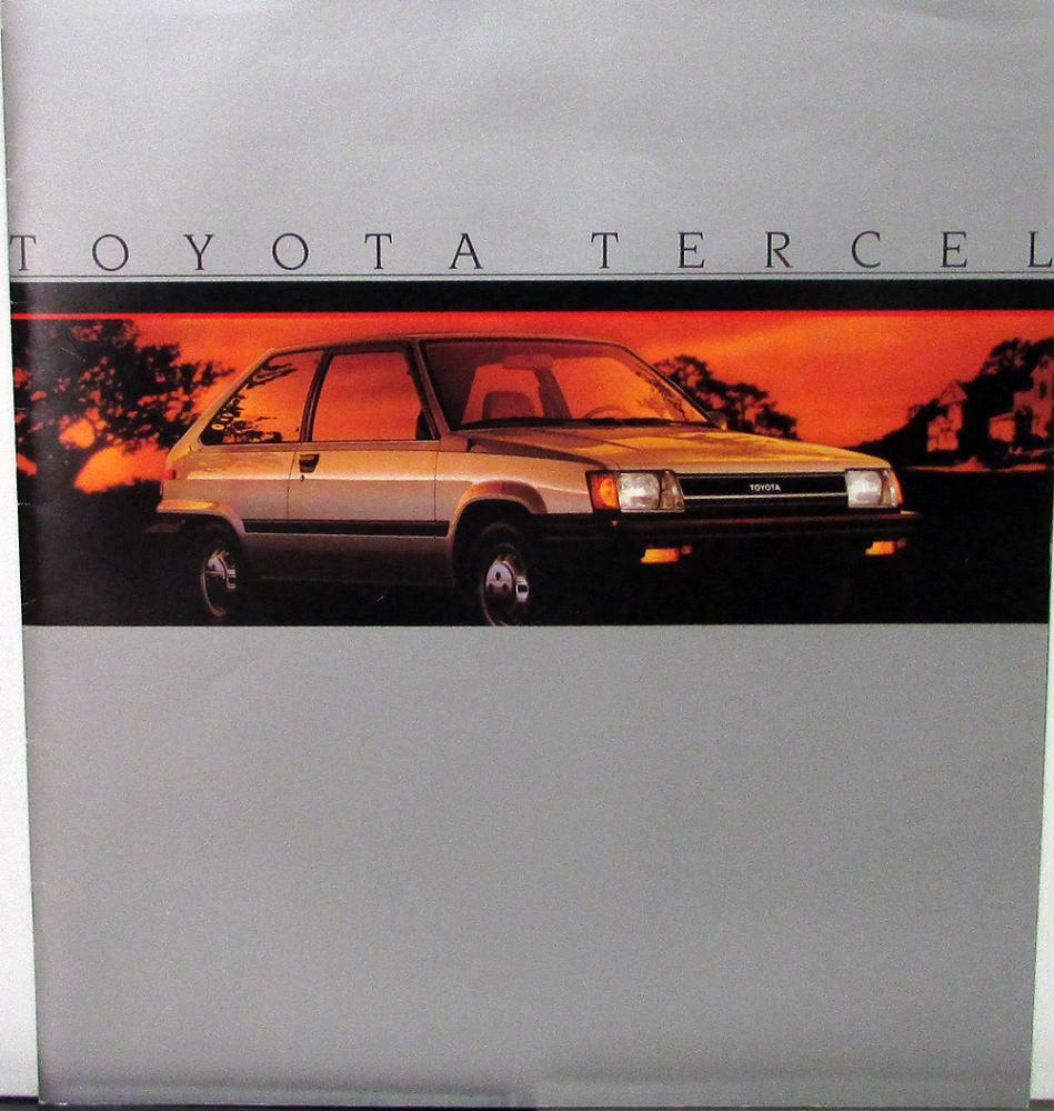 1985 Toyota Tercel Deluxe SR5 Wagon Liftback XL Sales
