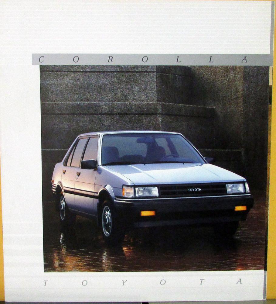 1987 Toyota Corolla LE Deluxe SR5 GTS Sport Canadian XL Sales Brochure  Original