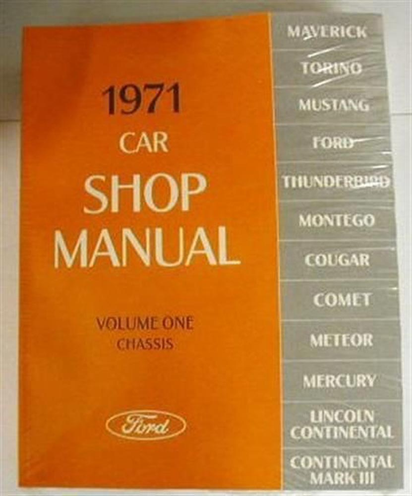 Ford Pinto Service Shop Owners Manuals Troxels Auto Literature 1984 Wiring Diagram 1971 Lincoln Mercury Manual Set New Cougar Torino Mustang 71