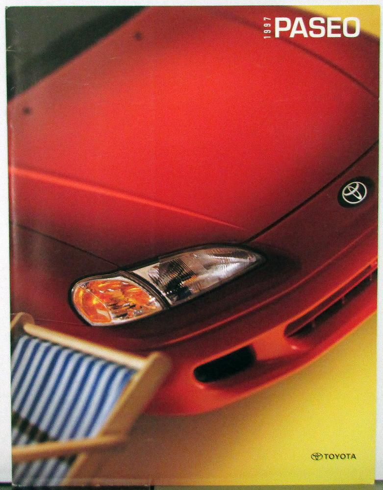 Toyota paseo coupe convertible color sales brochure original 1997 toyota paseo coupe convertible color sales brochure original sciox Choice Image