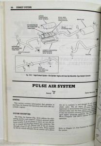 1982 AMC Technical Service Shop Manual Supplement No 1 for 1983 Vehicles Orig