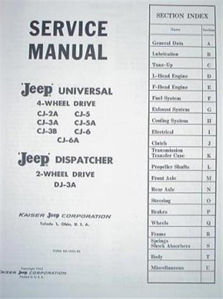 jeep universal manual daily instruction manual guides u2022 rh testingwordpress co Jeep CJ3 jeep universal service manual