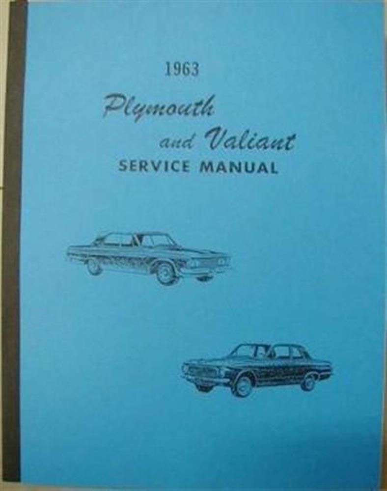 1963 Plymouth Savoy Belvedere Sport Fury Valiant Service Shop Repair Manual