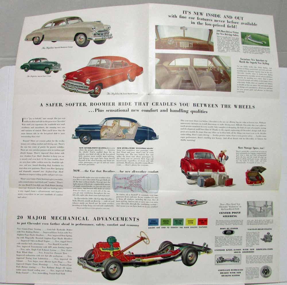 1949 Chevrolet Styleline and Fleetline Series Sales Folder