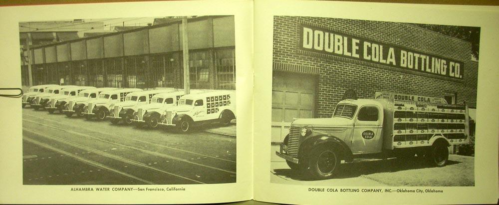 1940 Chevrolet Bottling Truck Sales Brochure Coca Cola