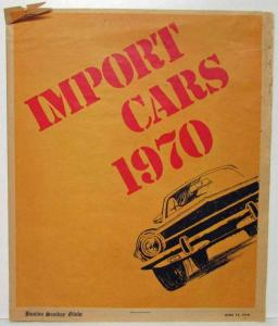 1970 Boston Sunday Globe Import Cars Advertising Section