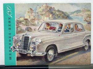 1954 Mercedes Benz Model 180 Sales Folder