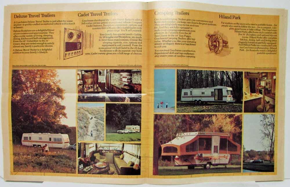 1977 Coachmen Recreational Vehicles Sales Brochure with