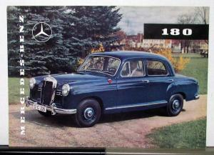 1959 Mercedes Benz Model 180 Sales Brochure