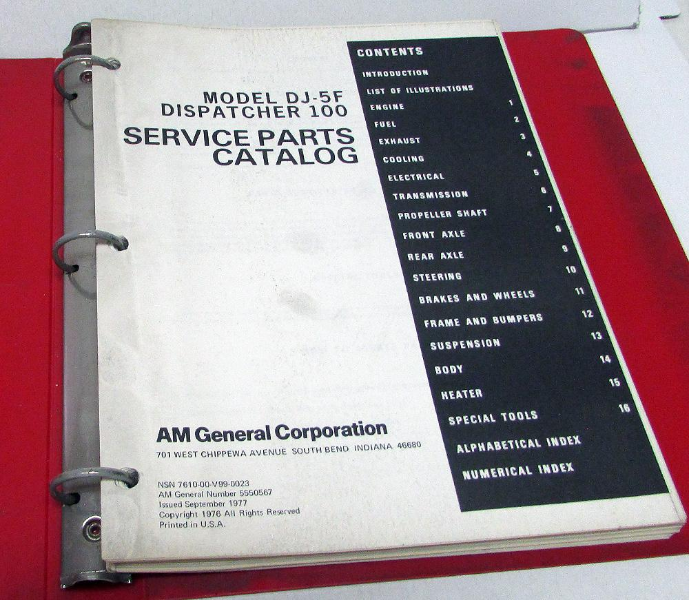 1977 Jeep Dj 5f Wiring Diagram Electrical Diagrams Am General 78 Corporation Dispatcher 100 Service Parts