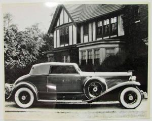 1933 Duesenberg Photo Reprint with House in Background