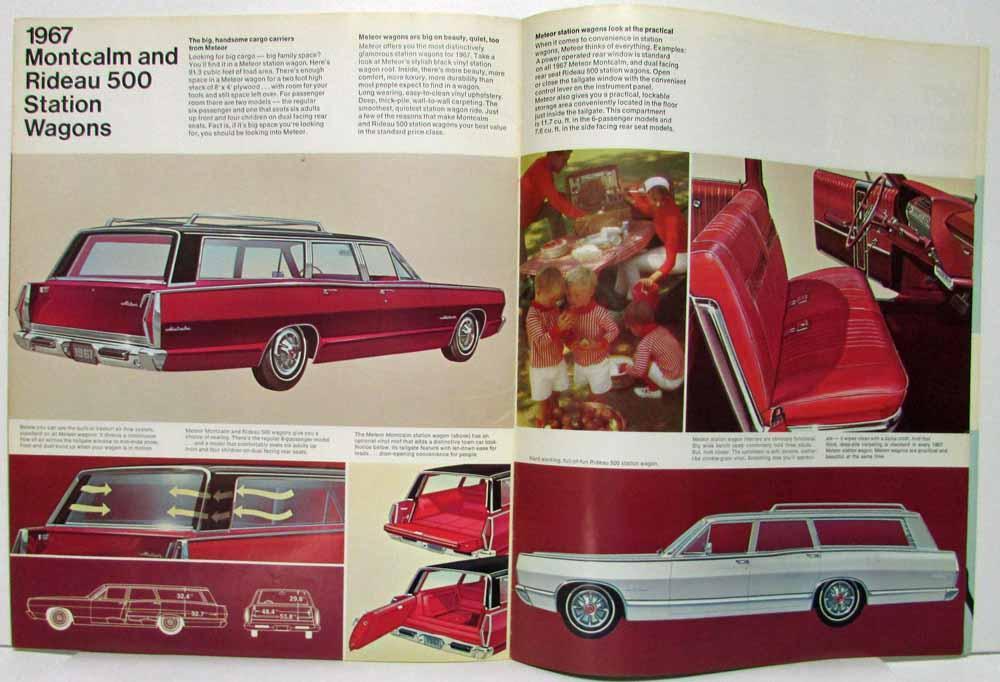 1967 Ford Meteor Sales Brochure Rideau 500 Montcalm S-33 Montego ...