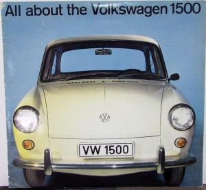 1963 Volkswagen VW 1500 Sedan & Wagon Sales Brochure Oversized Original