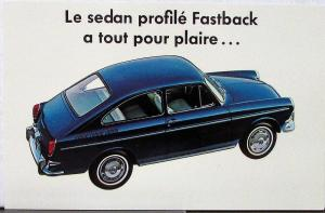 1965 Volkswagen VW Fastback Color Postcard Original Printed in French in Canada