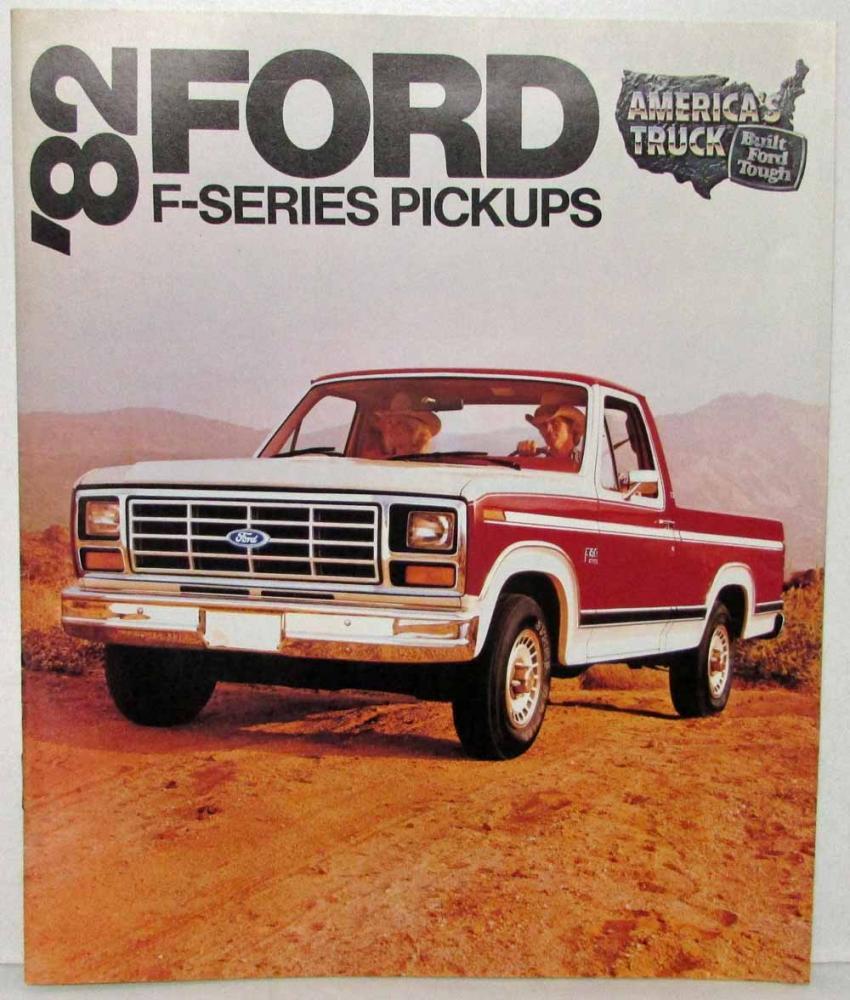 1982 Ford F Series Pickups Sales Brochure 100 150 250 350 1964 Camper Special