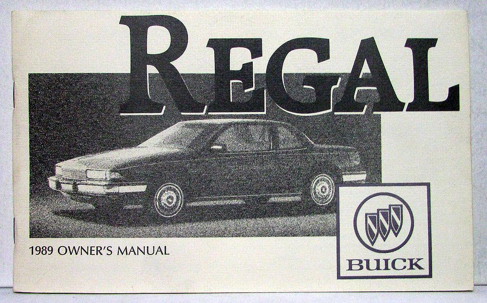 1989 buick regal owners operators manual original rh autopaper com 1990 Buick Regal 1995 Buick Regal