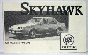1989 buick skyhawk operators owners manual original fuse box 87 buick skyhawk #2