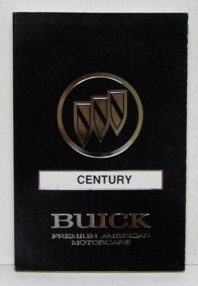 1990 Buick Century Operators Owners Manual Original