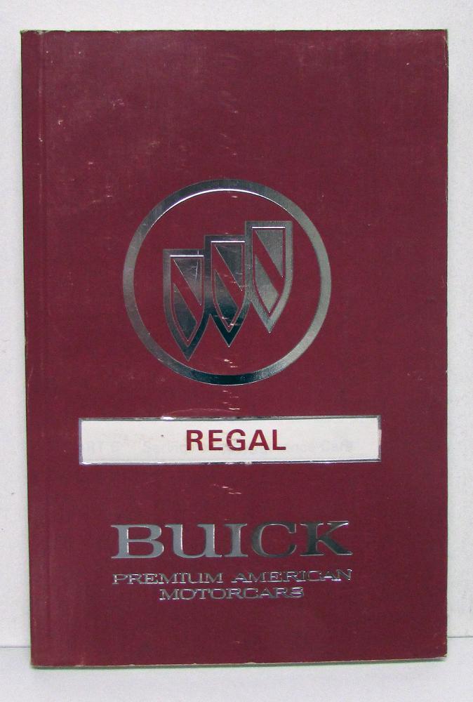 1991 Buick Regal Operators Owners Manual Original