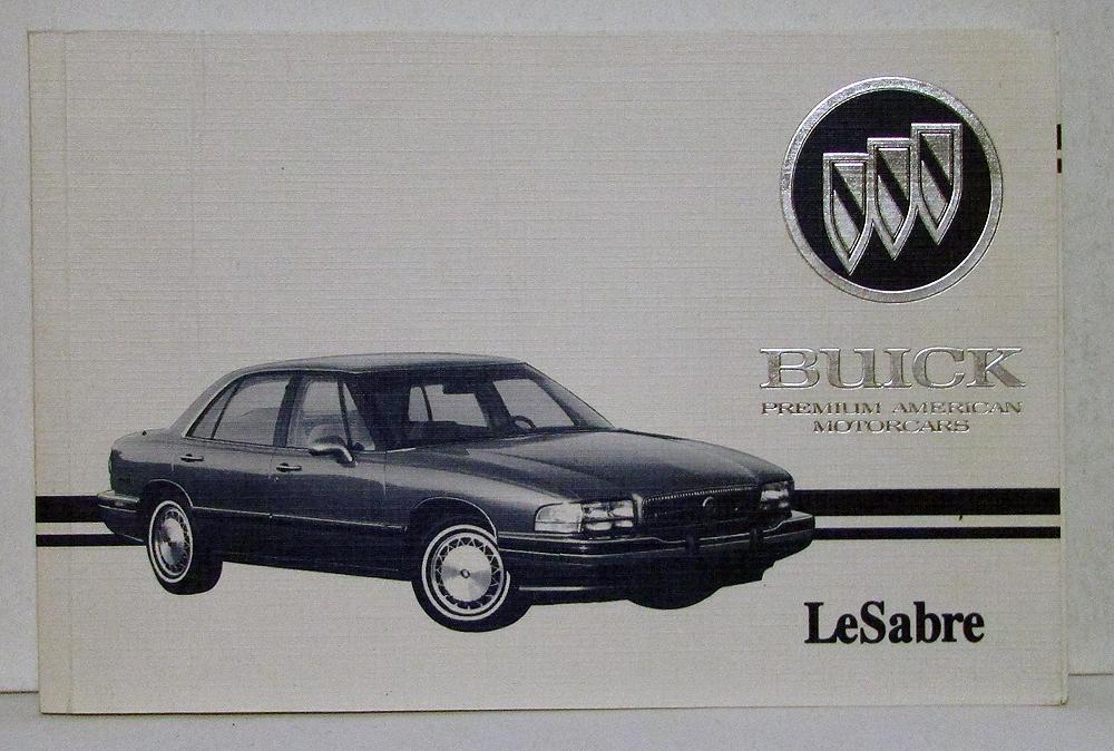 1995 buick lesabre operators owners manual original rh autopaper com 1995 buick regal owner's manual 1998 Buick Century