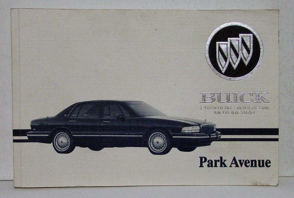 1995 buick park avenue operators owners manual original rh autopaper com Park Avenue Buick On Swangas 98 Buick Park Avenue Belt Diagram