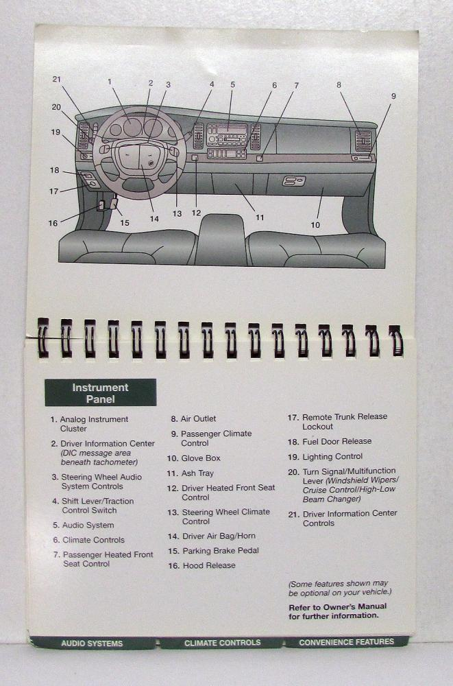 1999 buick park avenue operators owners quick reference guide original rh autopaper com 1999 buick century service manual pdf 1999 buick century service manual