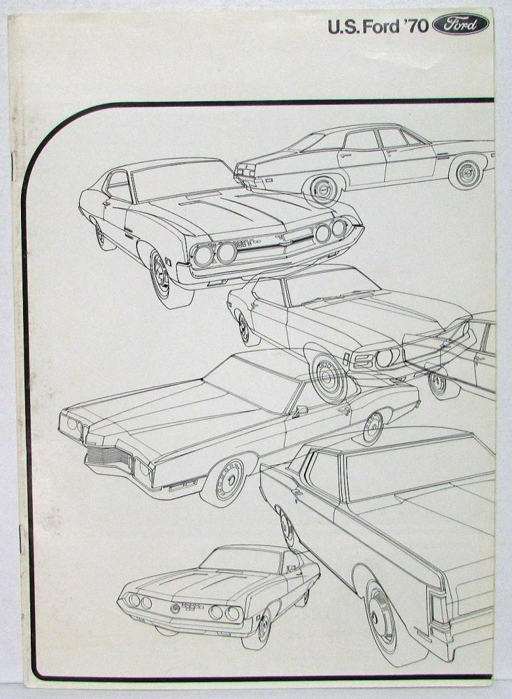 1970 ford mustang tbird cougar lincoln torino cars sales brochure uk market
